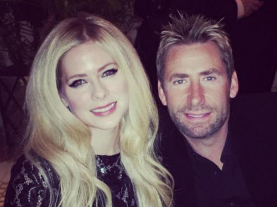 Wieder verliebt? Avril Lavigne und Chad Kroeger amüsierten sich jedenfalls auf der Pre-Grammy Party von Clive Davis