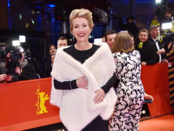 Ein echter Wow-Auftritt: Emma Thompson bei der Premiere ihres neuen Films auf der Berlinale