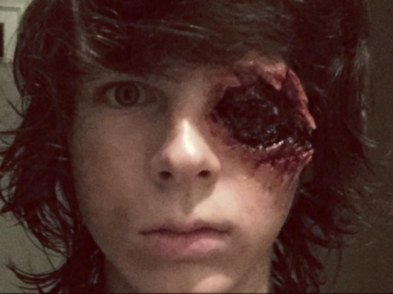Gruseliges Make-up: Chandler Riggs in seiner Rolle als Carl Grimes in