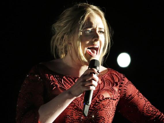 Adele bei ihrem Grammy-Auftritt