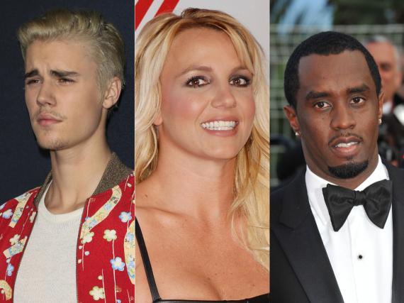 Justin Bieber (li.), Britney Spears und Rapper Diddy wurde auch schon mal der Eintritt verwehrt