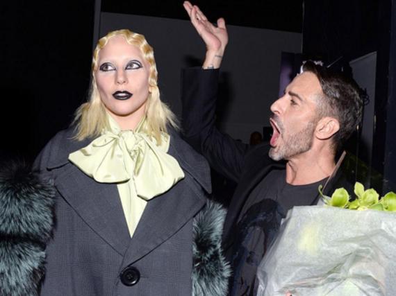 Lady Gaga und Marc Jacobs nach seiner Show bei der New York Fashion Week