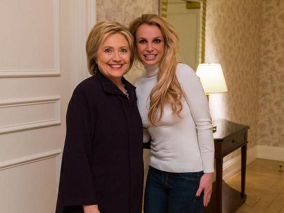 Gaben sich die Ehre: Britney Spears und Hillary Clinton