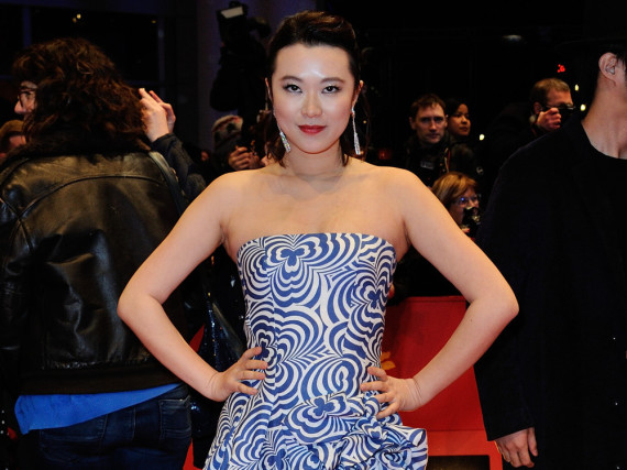 Die chinesische Schauspielerin Huang Lu bei der Abschlussgala der Berlinale