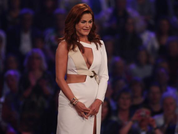 Andrea Berg überraschte in der Show mit einem aufreizendem Outfit