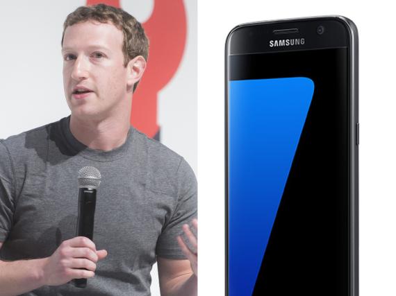 Überraschte die Anwesenden bei der Samsung-S7-Vorstellung: Mark Zuckerberg