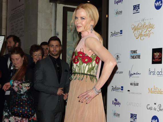 Nicole Kidman bei den WhatsOnStage Theatre Awards am Sonntag in London