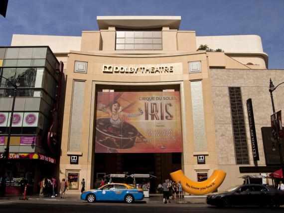 Das Dolby Theatre (bis Februar 2012 Kodak Theatre) am Hollywood Boulevard, ständiger Schauplatz der Verleihung der Oscars