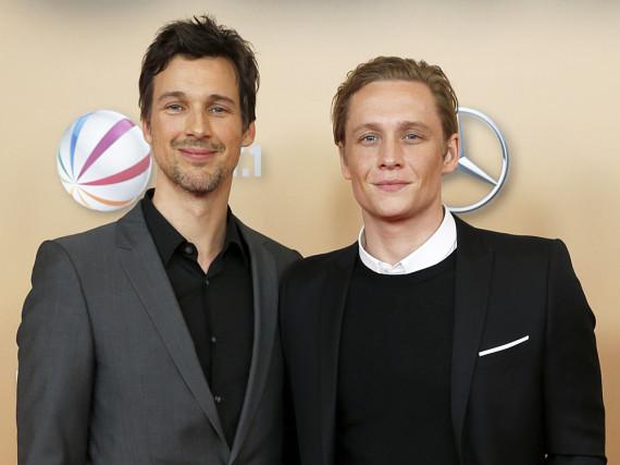 Florian David Fitz (l.) und Matthias Schweighöfer bei der Weltpremiere von