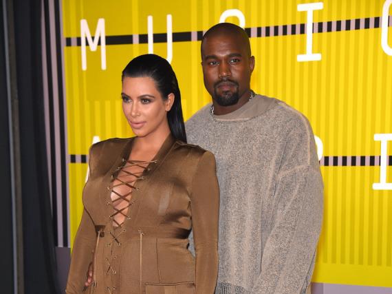Exzentriker unter sich: Kanye West und Gattin Kim Kardashian bei den MTV Video Music Awards