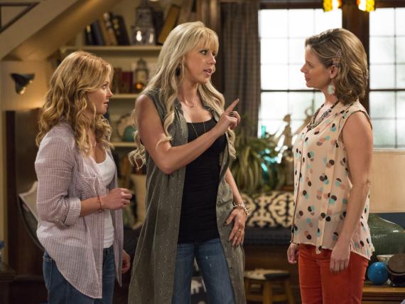 Kann das gut gehen? D.J. (li.), Stephanie und Kimmy unter einem Dach!