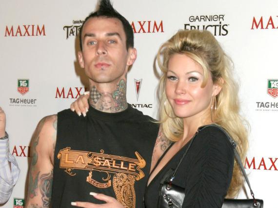 Travis Barker und Shanna Moakler gemeinsam auf einer Veranstaltung im Mai 2005
