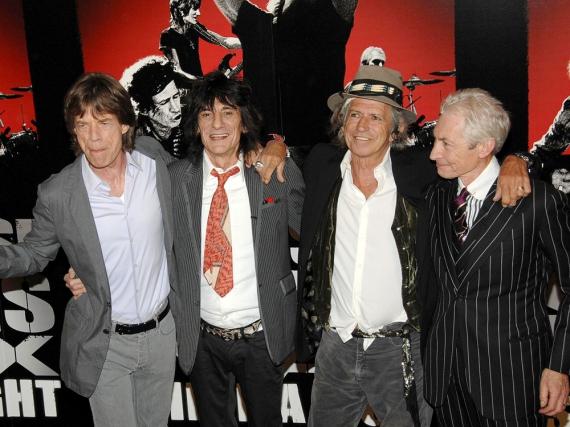 Mick Jagger (li.) und seine Rolling Stones wollen Ende März Kuba erobern