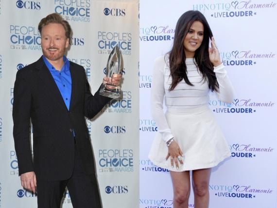 Zwei, die offensichtlich ihre Grammatik gelernt haben: Conan O'Brien und Khloe Kardashian