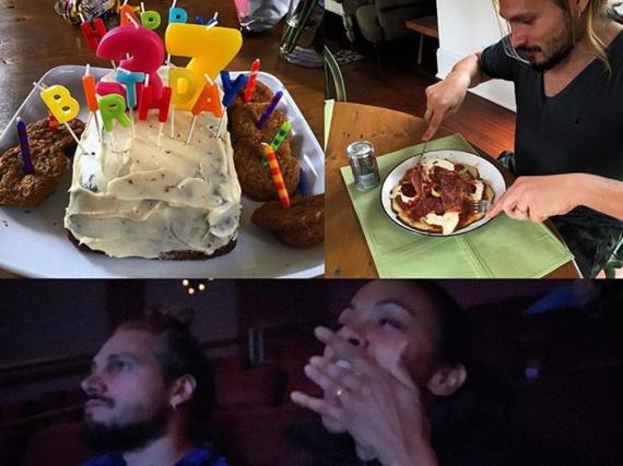 Zoe Saldana lässt es am Geburtstag ihres Mannes ruhig angehen - mit Pizza und einem Film