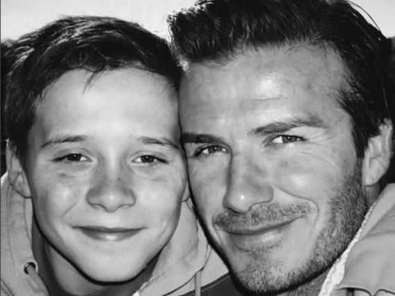 Da spricht der stolze Vater: David Beckham gratuliert seinem Sohn Brooklyn zum Geburtstag