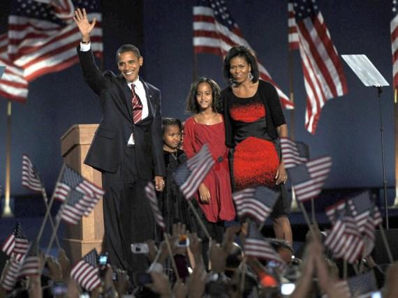 Barack Obama und seine Familie leben seit 2009 im Weißen Haus