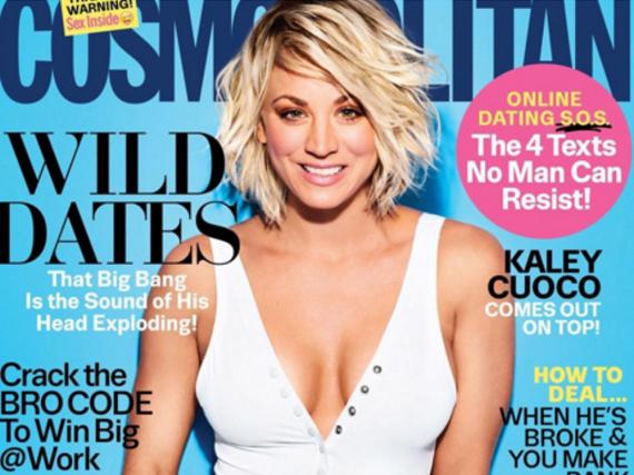 Kaley Cuoco auf dem April-Cover der amerikanischen