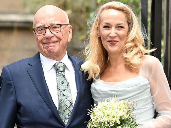 Jetzt auch mit dem Segen der Kirche: Ehepaar Rupert Murdoch und Jerry Hall