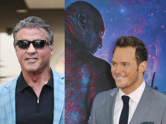 Kollegen am Set? Sylvester Stallone (l.) und Chris Pratt (r.)