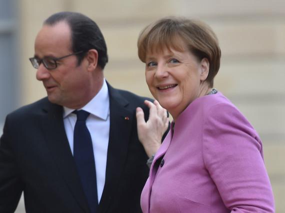 Feinschmecker unter sich: Bundeskanzlerin Angela Merkel und Präsident Francois Hollande