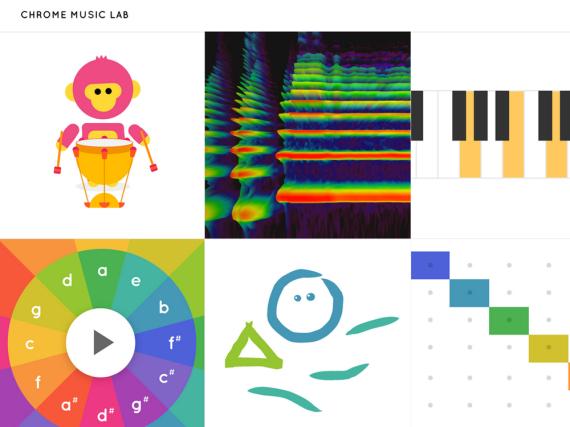 Die Startseite des Google Music Labs