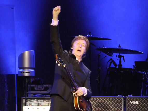 Live immer noch gut drauf: Paul McCartney bei einem Auftritt in Moskau