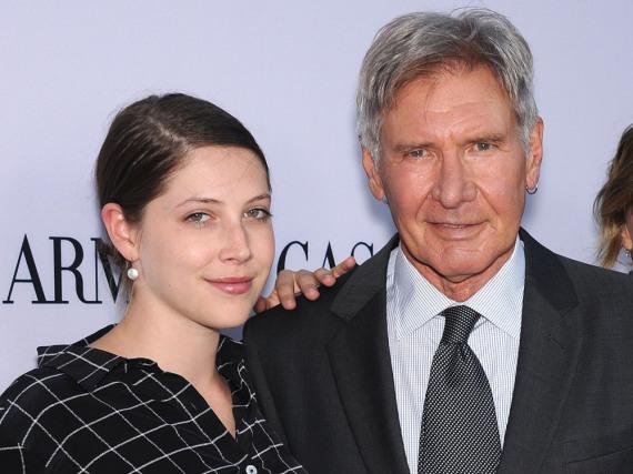Familie und Kollegen: Harrison Ford und seine Tochter Georgia