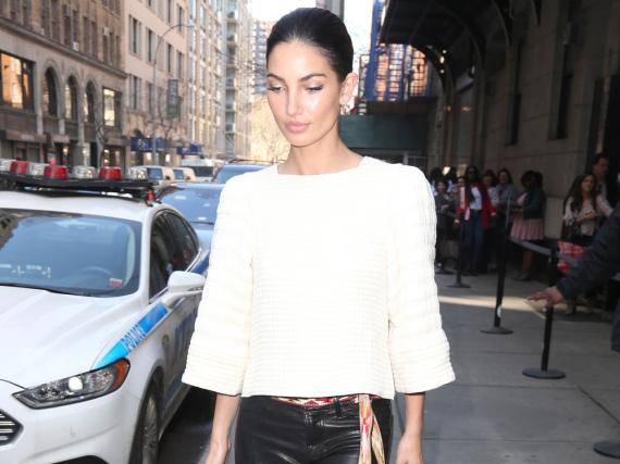 Lily Aldridge schlendert durch New York City
