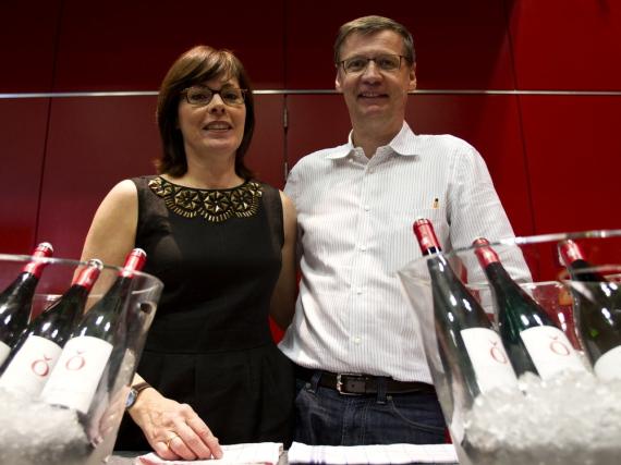 Günther Jauch mit seiner Frau Dorothea auf der Mainzer Weinbörse