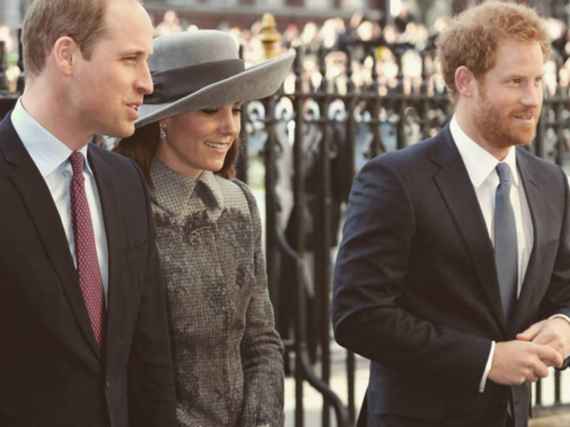 William, Kate und Harry in London