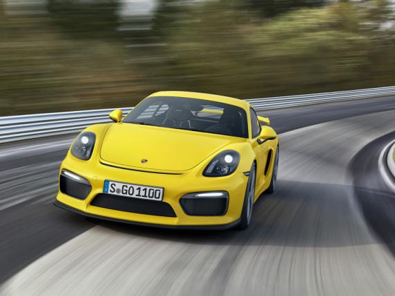 Mit dem Porsche Cayman GT4 auf der Rennstrecke flott unterwegs