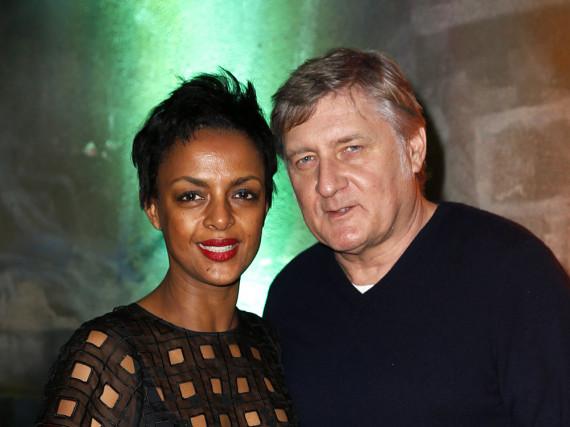 Carlo Rola und seine Frau Dennenesch Zoudé bei einer Veranstaltung in Berlin am 12. Februar 2016