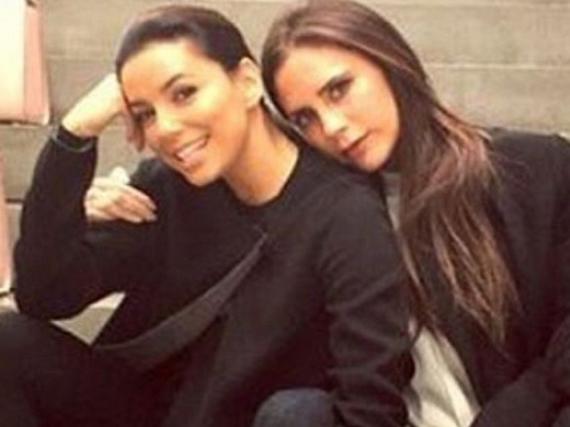Beste Freundinnen: Eva Longoria (l.) und Victoria Beckham