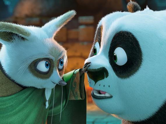 Meister Shifu will, dass Panda Po künftig die Kung-Fu-Schüler unterrichtet