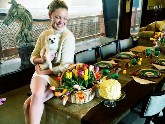 Katherine Heigl punktet beim Oster-Brunch mit Blumen und Kuchen - Sie mit unnützem Wissen