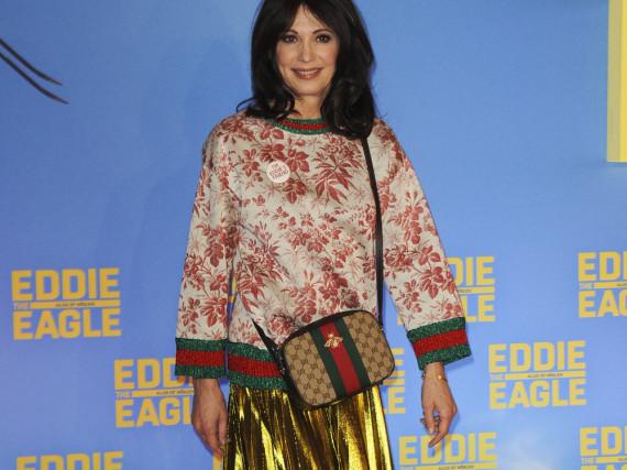 Schauspielerin Iris Berben in Gucci, auf der Premiere von