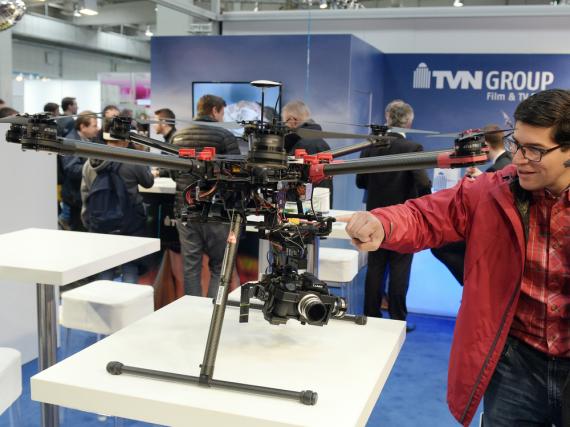 Auch Drohnen waren eines der angesagten Themen auf der CeBIT