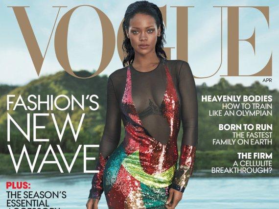 Rihanna auf dem Cover der US-