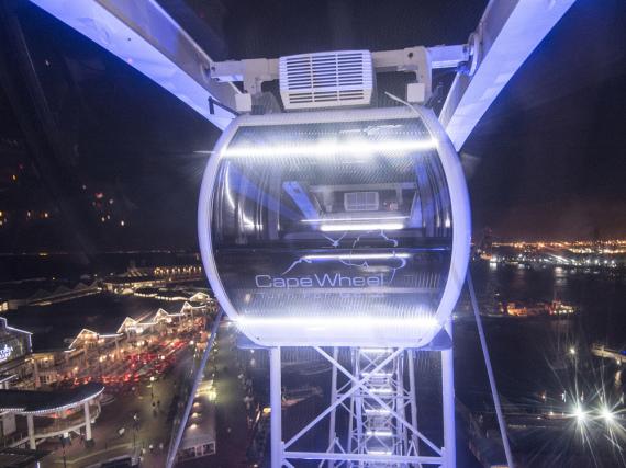 Riesenrad Cape Wheel in Kapstadt: Fünf Rand von jedem Ticket für