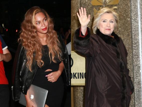 Frauen mit geteilten Interessen: Beyoncé (li.) und Hilary Clinton