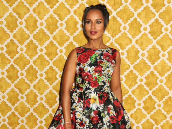 US-Star Kerry Washington bezaubert in einer blumigen Abendrobe von Dolce & Gabbana