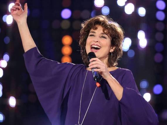 Isabel Varell bei einem TV-Auftritt