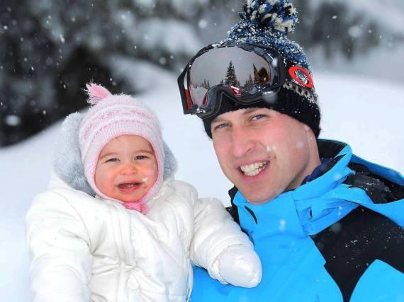 Charlotte und Prinz William im Winterurlaub