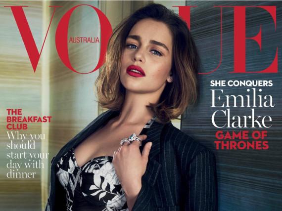 Emilia Clarke ist auf dem aktuellen Cover der australischen