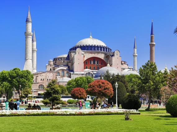 Die Hagia Sophia in Istanbul ist eine der meistbesuchten Sehenswürdigkeiten der Türkei