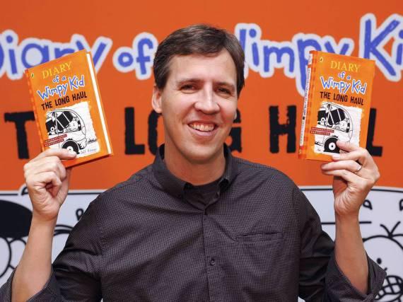 Autor Jeff Kinney feiert mit seiner