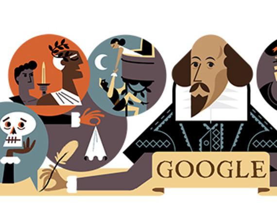 Google Doodle: Wer die Suchmaschine am Samstag öffnet, wird an William Shakespeare erinnert