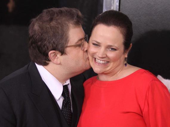 Comedian Patton Oswalt und seine Frau Michelle McNamara 2011 auf der Premiere des Films