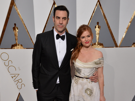 Sacha Baron Cohen und Ehefrau Isla Fisher bei der Oscar-Verleihung 2016